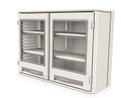 Overhead Double-Wide Cabinet w/Clear Doors