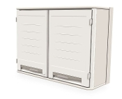 Overhead Double-Wide Cabinet w/Solid Doors