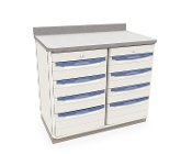 Single Wide Cabinet with Drawers Storage w/Locks