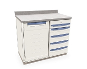 Single Wide Cabinet with Drawers and Shelf Storage
