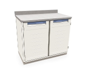 Double Wide Cabinet with Solid Doors