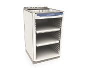 Single-Wide Base Unit w/Drawer and open shelves