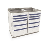 Double-Wide Base Unit w/Drawers