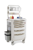 Flexline Medication Cart w/Overhead