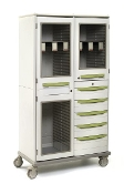 Double-Wide Catheter Storage Cabinet w/Drawers