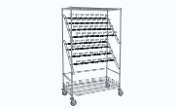 Catheter Procedure Cart - Double Bulk Storage