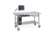 Mobile Lab Table with accessories