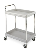 2 Shelf Deep Ledge Utility Cart models