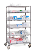 Lab Supply Cart, Gray Metroseal finish