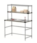 Metro Heated Shelf Open Workstation