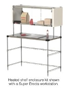 Metro Heated Shelf Enclosed Workstation
