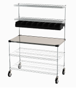 Metro SE Worktable with overhead.